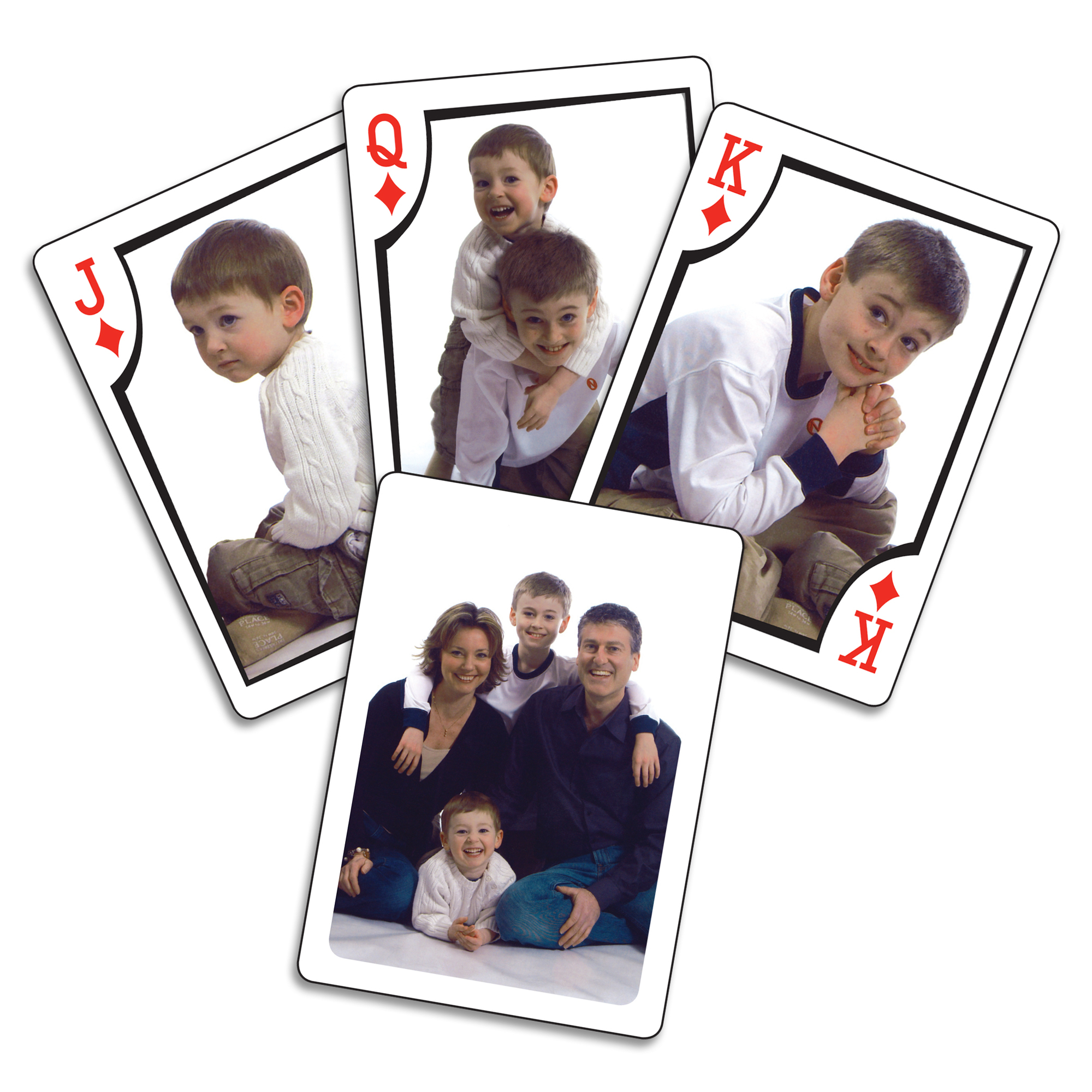 Full Deck - 12 Different Face Cards